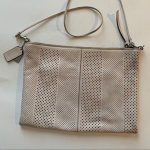 Coach Bags - Coach Ivory Convertible Pouch Clutch Crossbody Bag